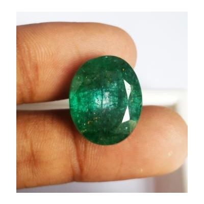 15.12 Carats Natural Zambian Emerald 17.77 x 14.85 x 8.09 mm