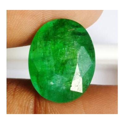10.35 Carats Natural Zambian Emerald 16.60 x 13.24 x 6.77 mm