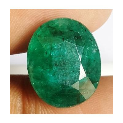 10.90 Carats Natural Zambian Emerald 15.12 x 12.71 x 8.01 mm