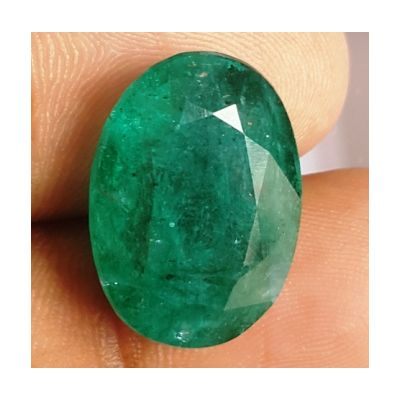 12.24 Carats Natural Zambian Emerald 18.29 x 13.27 x 6.80 mm