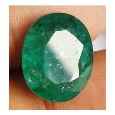14.10 Carats Natural Zambian Emerald 17.48 x 14.24 x 8.14 mm