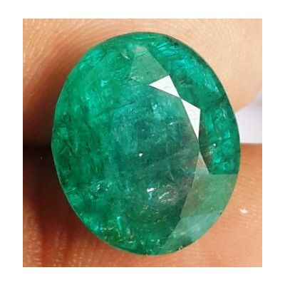 10.64 Carats Natural Zambian Emerald 15.20 x 12.90 x 7.87 mm