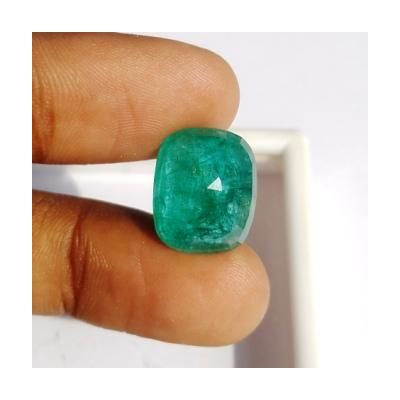 11.20 Carats Natural Zambian Emerald 15.42 x 12.61 x 7.61 mm