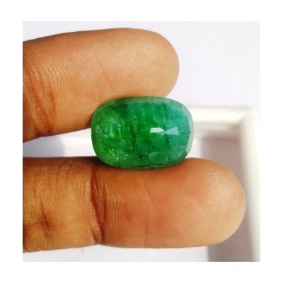 11.79 Carats Natural Zambian Emerald 17.15 x 12.04 x 7.41 mm
