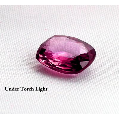2.25 Carat Ceylon Color Changing Dark Pink Natural Sapphire