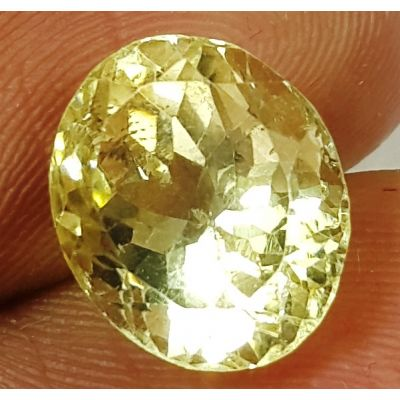 4.19 Carats Natural  Yellow Citrine 10.52 x 8.83 x 7.94 mm