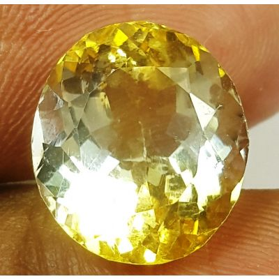 7.00 Carats Natural  Yellow Citrine 12.07 x 10.96 x 8.6 mm