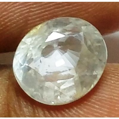 3.50 Carats Colorless Sapphire 8.80 x 6.83 x 5.19 mm
