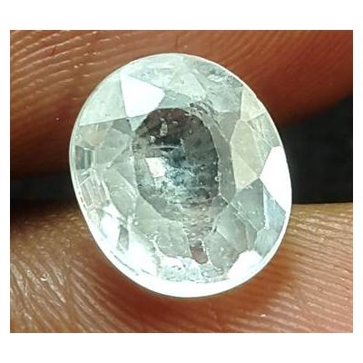 3.25 Carats Natural Colorless  Zircon 8.46 x 7.33 x 4.14 mm