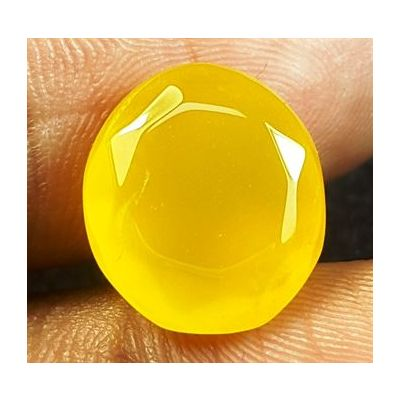 6.95 Carats Natural Yellow Agate 13.21 X 11.67 X 6.75 MM