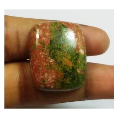 39.10 Carats Natural Unakite Cushion Shape 25.37x20.65x6.80mm