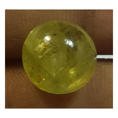 6.30Carats Natural Apatite Cats Eye Round Shape 10.51 x 10.18 x 7.15 mm