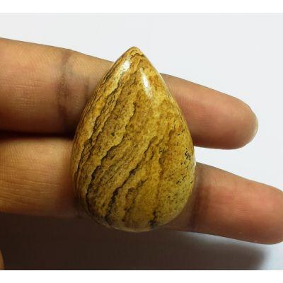 54.31 Carats Natural Picture Jasper Pear shape 36.28x24.63x8.52mm