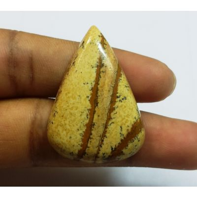 29.02 Carats Natural Picture Jasper Pear shape 33.37x28.56x5.58mm