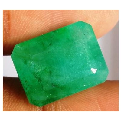12.50 Carats Natural Zambian Emerald 15.28 x 11.69 x 7.89 mm