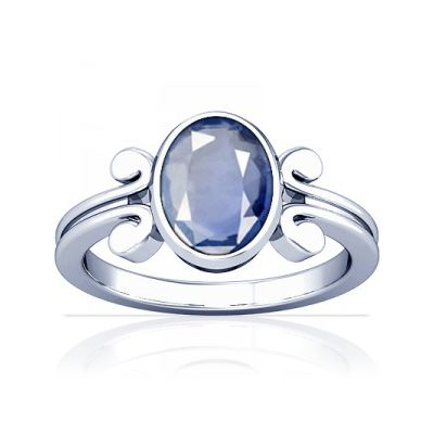 African Blue Sapphire Sterling Silver Ring - K10