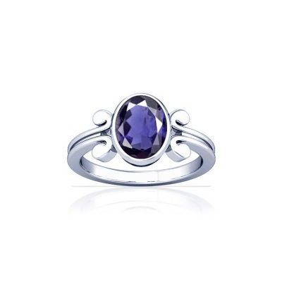 Natural Iolite Sterling Silver Ring - K10