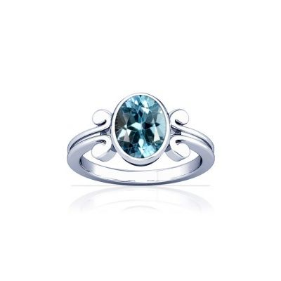 Blue Topaz Sterling Silver Ring - K10