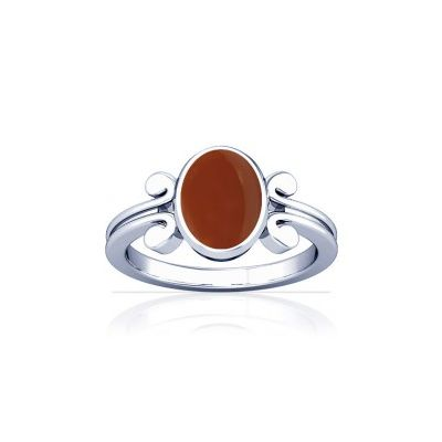 Natural Carnelian Sterling Silver Ring - K10