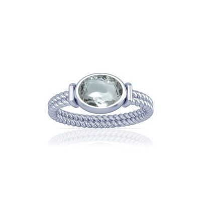 Sparkling White Zircon Sterling Silver Ring - K11