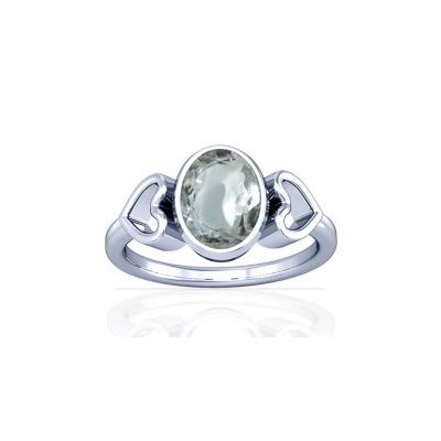 Sparkling White Zircon Sterling Silver Ring - K12
