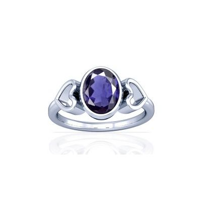 Natural Iolite Sterling Silver Ring - K12