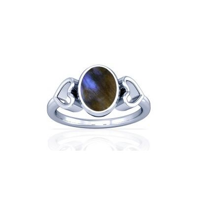 Natural Labradorite Sterling Silver Ring - K12
