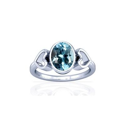Blue Topaz Sterling Silver Ring - K12