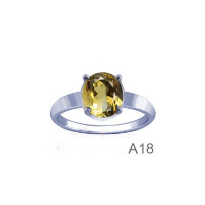 Natural Citrine Sterling Silver Ring - K18
