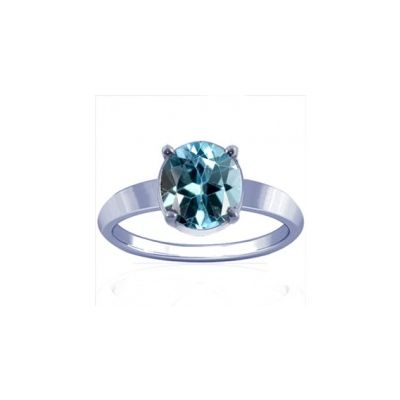 Blue Topaz Sterling Silver Ring - K18