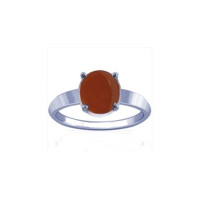 Natural Carnelian Sterling Silver Ring - K14