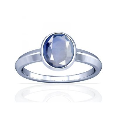 African Blue Sapphire Sterling Silver Ring - K1