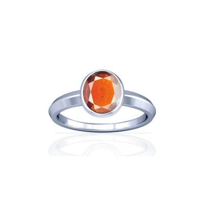 African Hessonite Sterling Silver Ring - K1