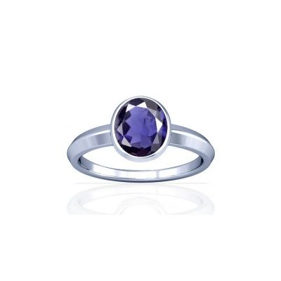 Natural Iolite Sterling Silver Ring - K1