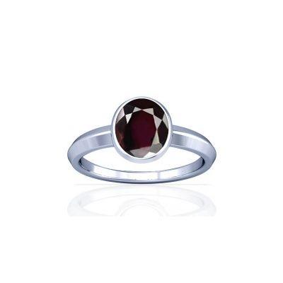 Natural Garnet Sterling Silver Ring - K1