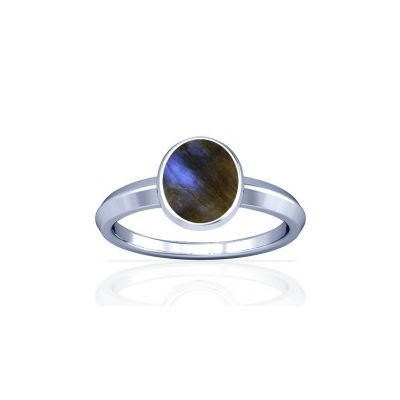 Natural Labradorite Sterling Silver Ring - K1
