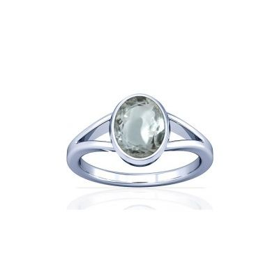 Sparkling White Zircon Sterling Silver Ring - K2