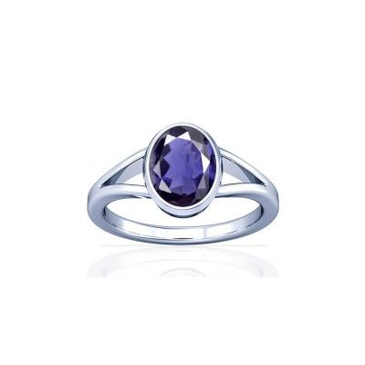 Natural Iolite Sterling Silver Ring - K2