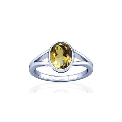 Natural Citrine Sterling Silver Ring - K2