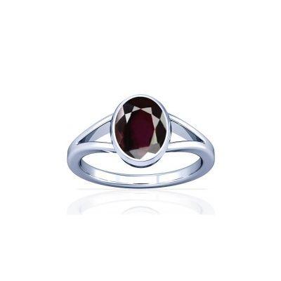Natural Garnet Sterling Silver Ring - K2