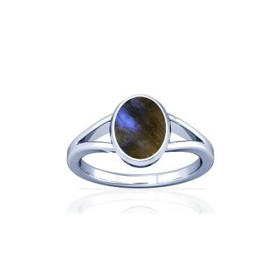 Natural Labradorite Sterling Silver Ring - K2