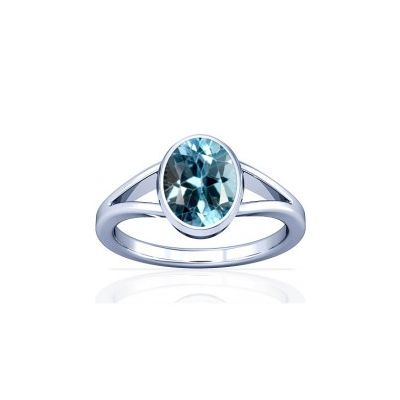 Blue Topaz Sterling Silver Ring - K2
