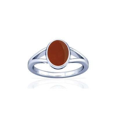 Natural Carnelian Sterling Silver Ring - K2
