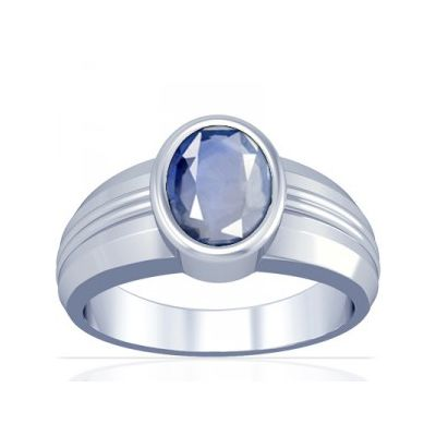 African Blue Sapphire Sterling Silver Ring - K4