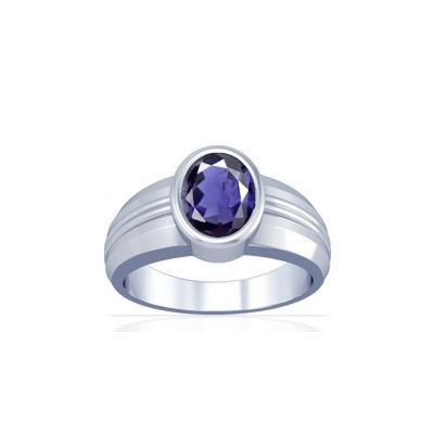 Natural Iolite Sterling Silver Ring - K4