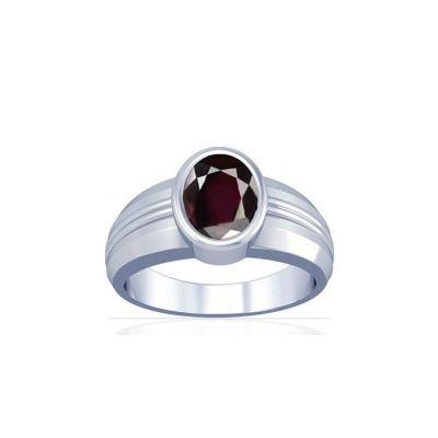 Natural Garnet Sterling Silver Ring - K4