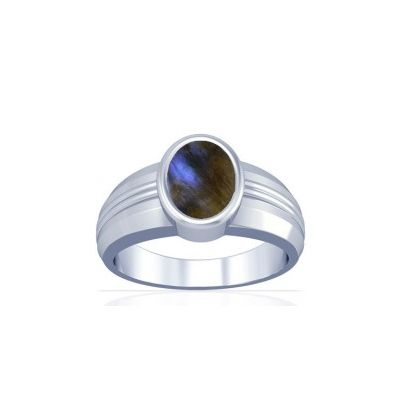 Natural Labradorite Sterling Silver Ring - K4