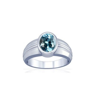 Blue Topaz Sterling Silver Ring - K4
