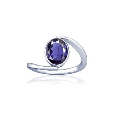 Natural Iolite Sterling Silver Ring - K6