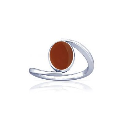 Natural Carnelian Sterling Silver Ring - K6